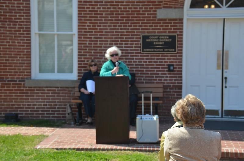 Joan Wehner Dedicates the Exhibit