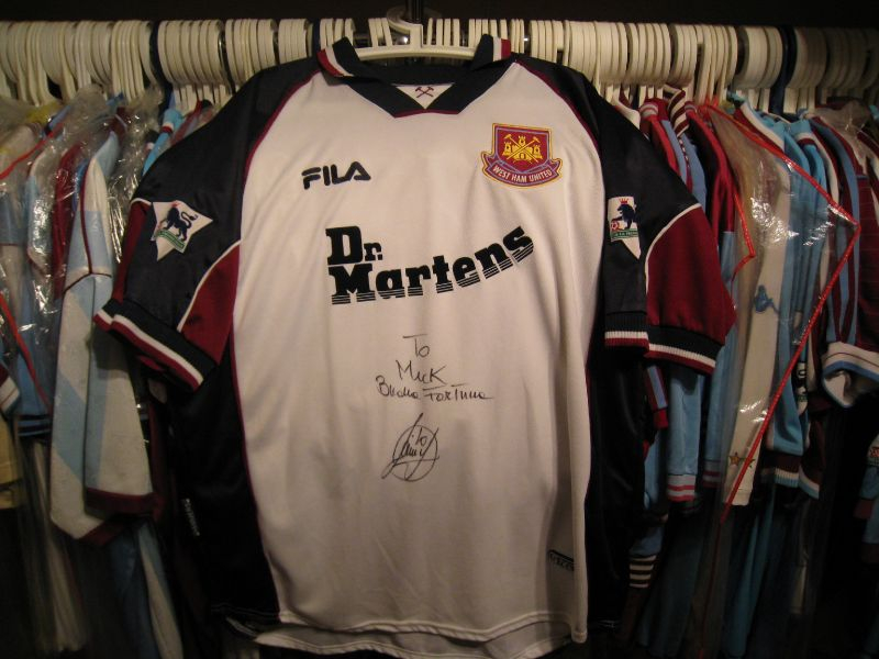 My favorite shirt UEFA Intertoto Cup final worn shirt by Paolo Di Canio