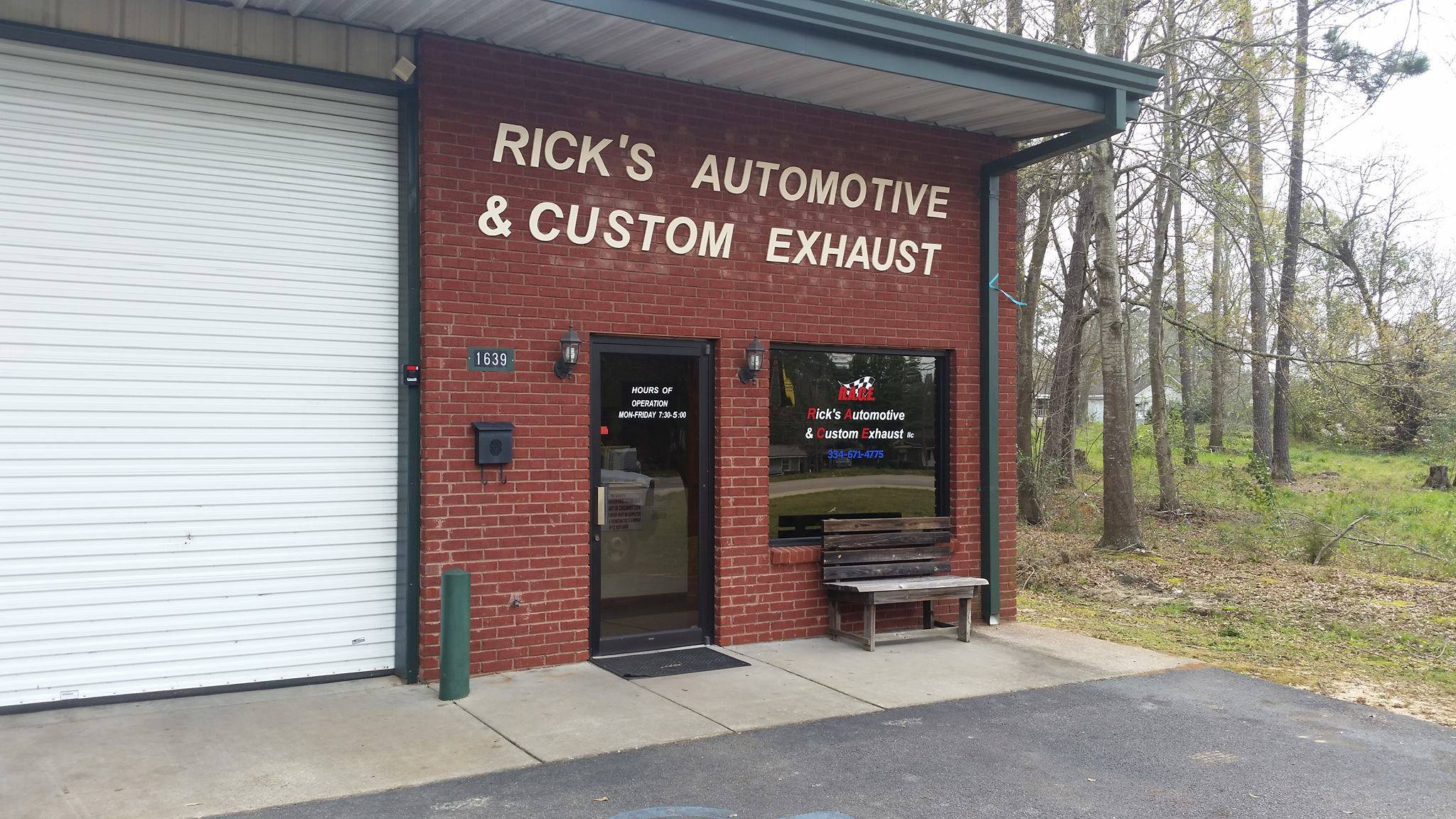 Rick's Automotive and Custom Exhaust, 1639 south oates st, Dothan , Al, 36301, us