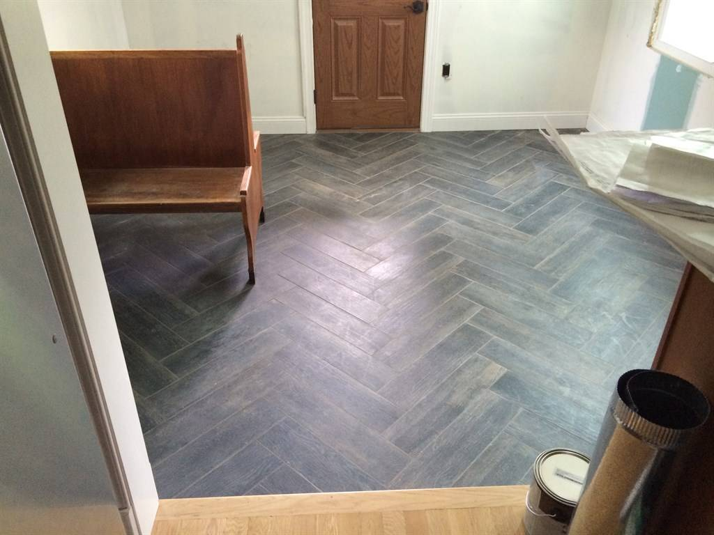 New tile in Herringbone Pattern