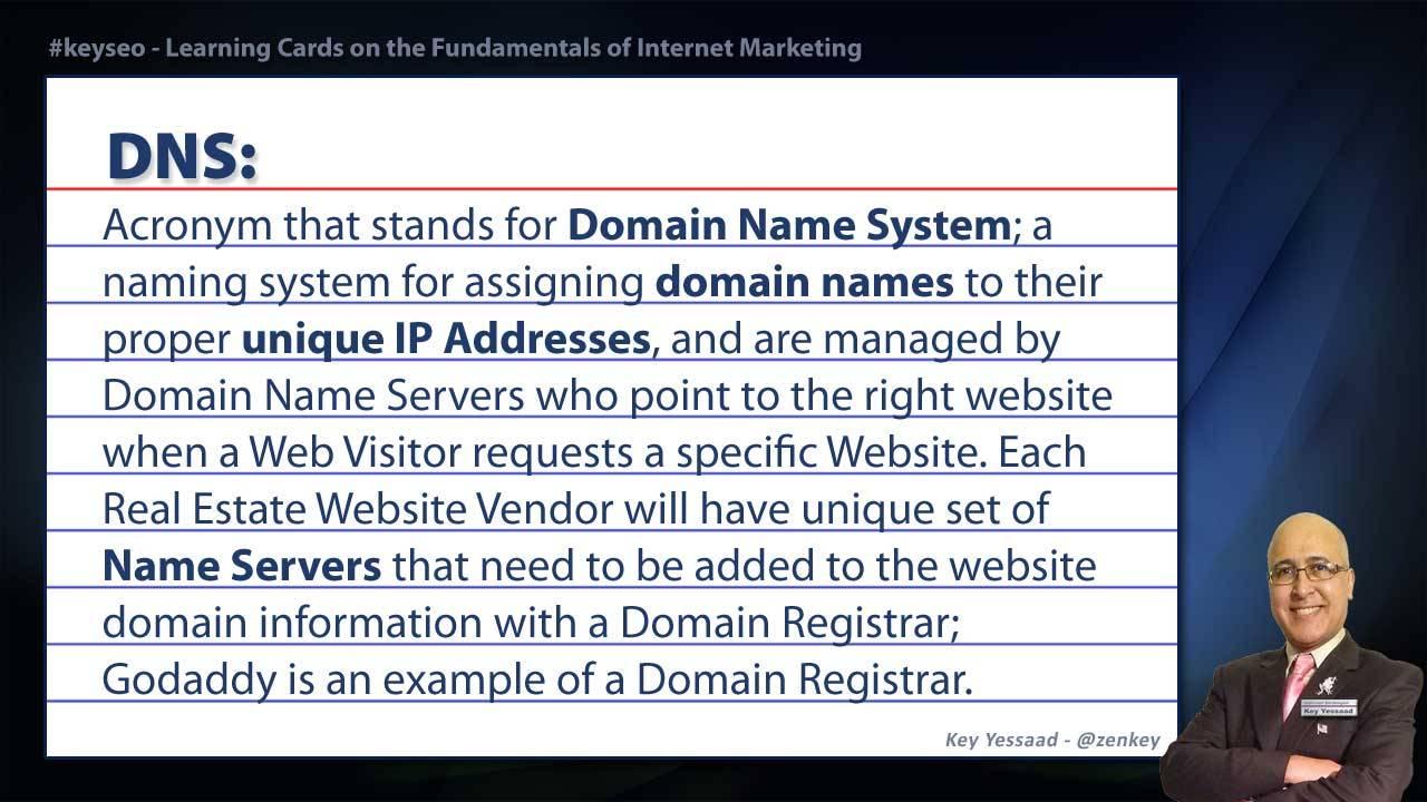 DNS - Real Estate SEO Short Definition
