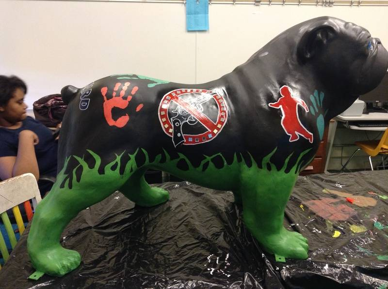 Painted Bull Dog