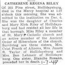 Riley, Catherine 1949