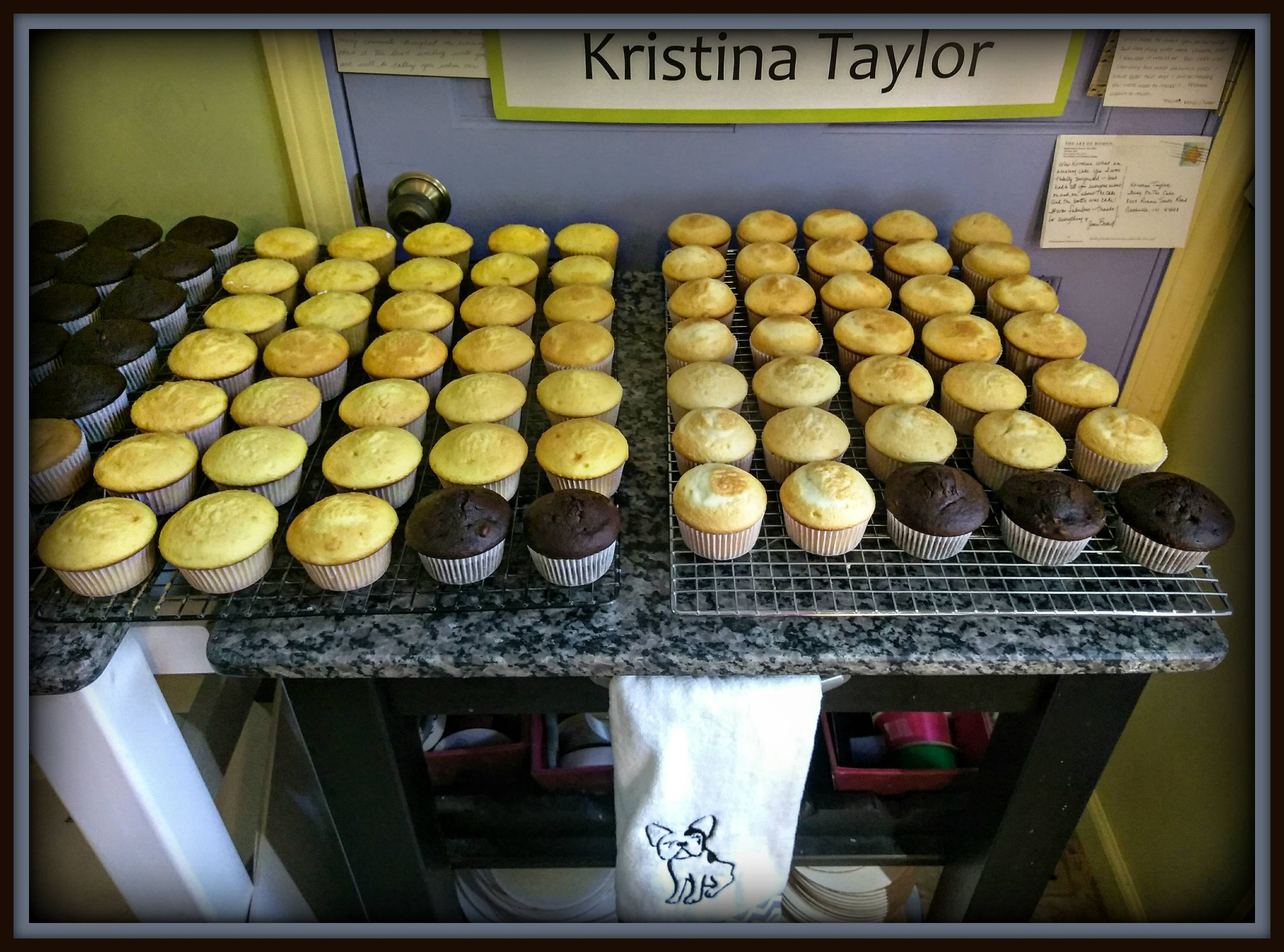 Cupcakes cooling...