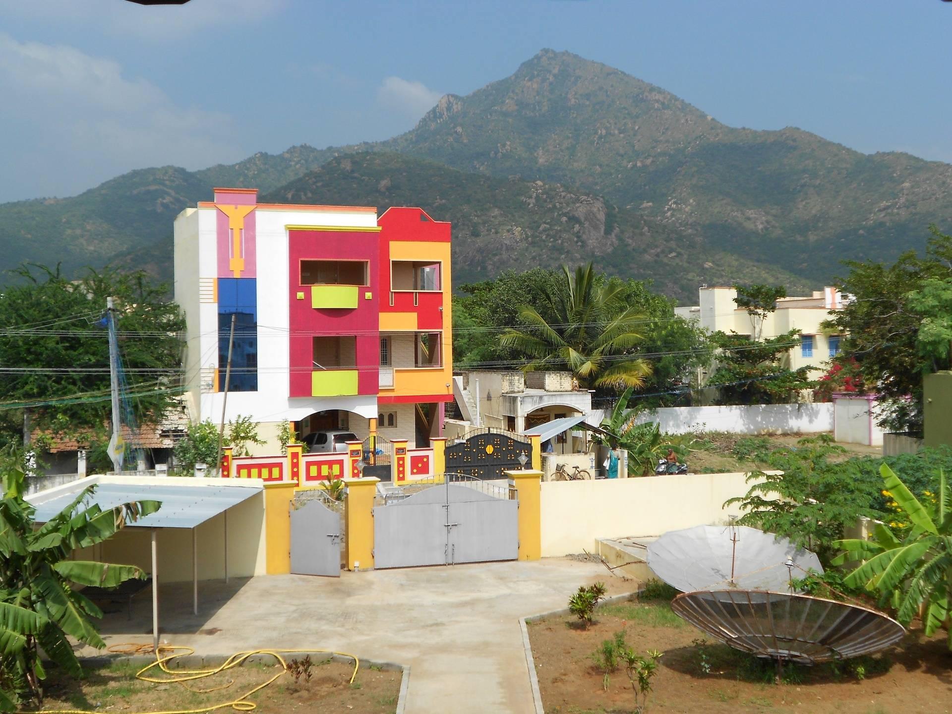 Arunachala from my room in Tiru
