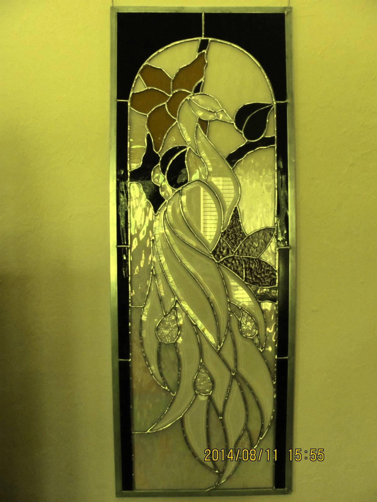 CLEAR BEVELED PEACOCK PANEL