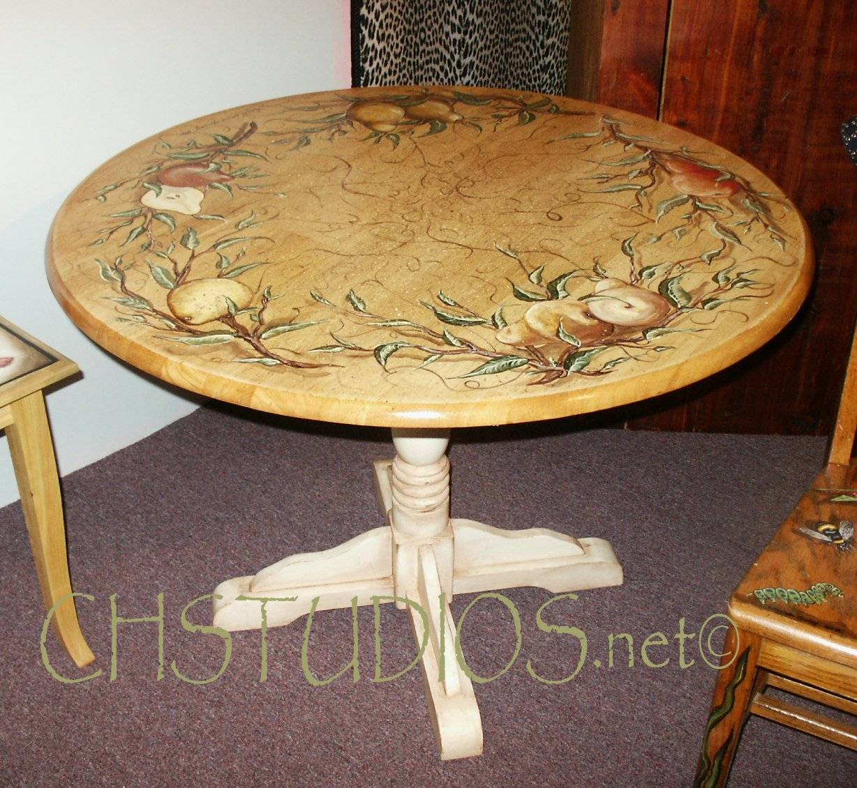 Hand Painted Pear Dining Table