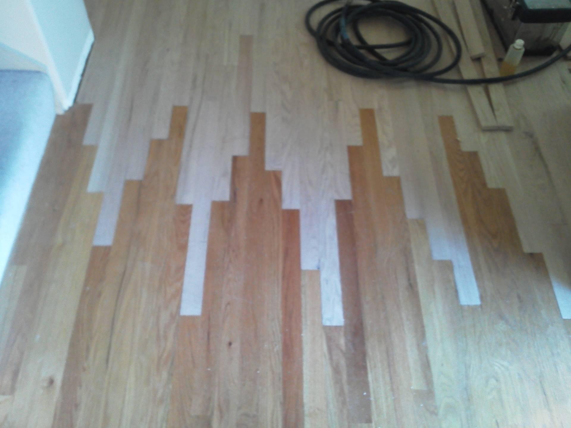New floor weaving into an old floor.