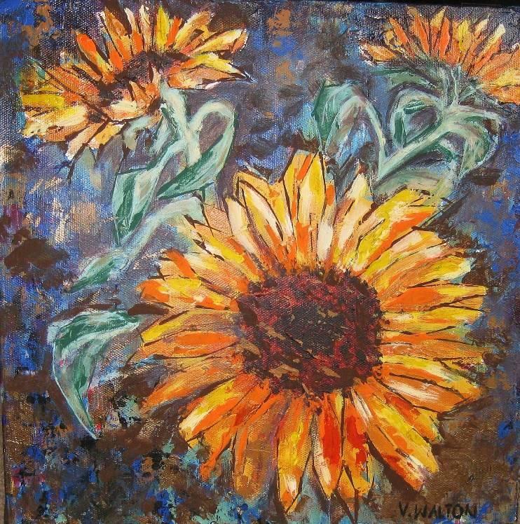 Warm sunflowers