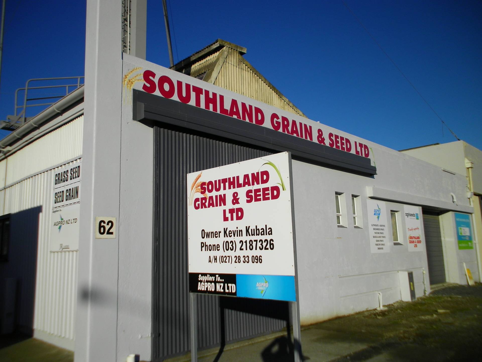 Southland Grain and Seed Store, 62 Annan St, Invercargill, Southland, 9844, New Zealand