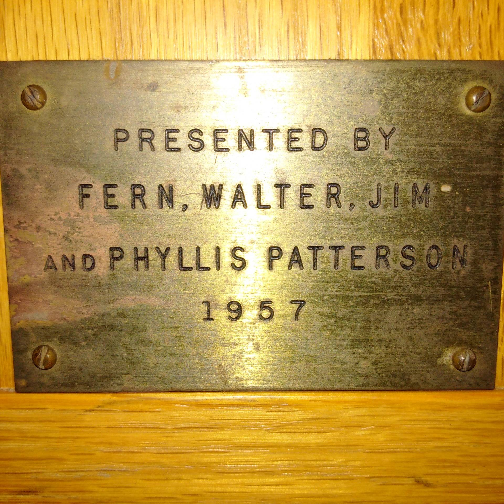Fern, Walter and Phyllis Patterson 1957