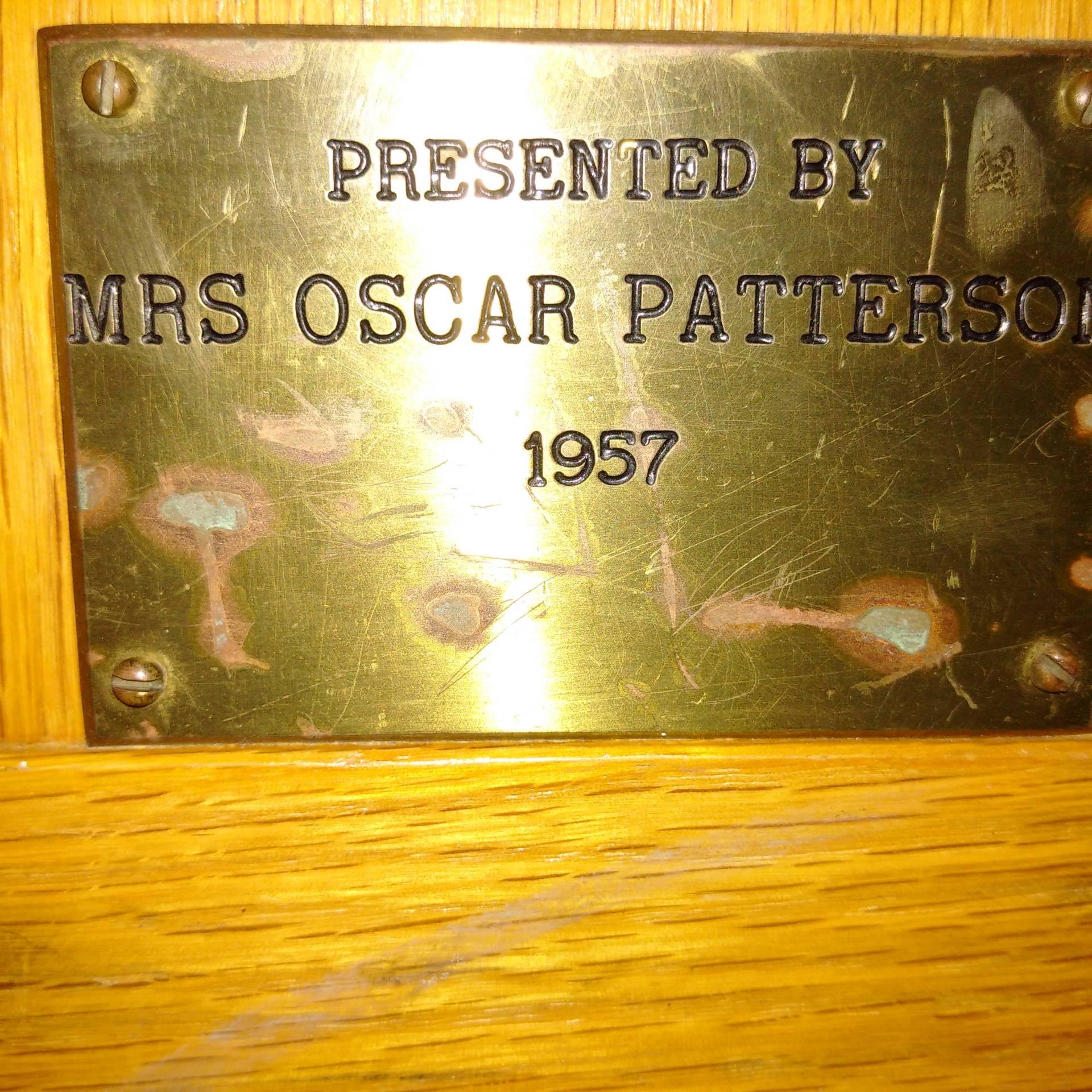 Mrs. Oscar Patterson 1957