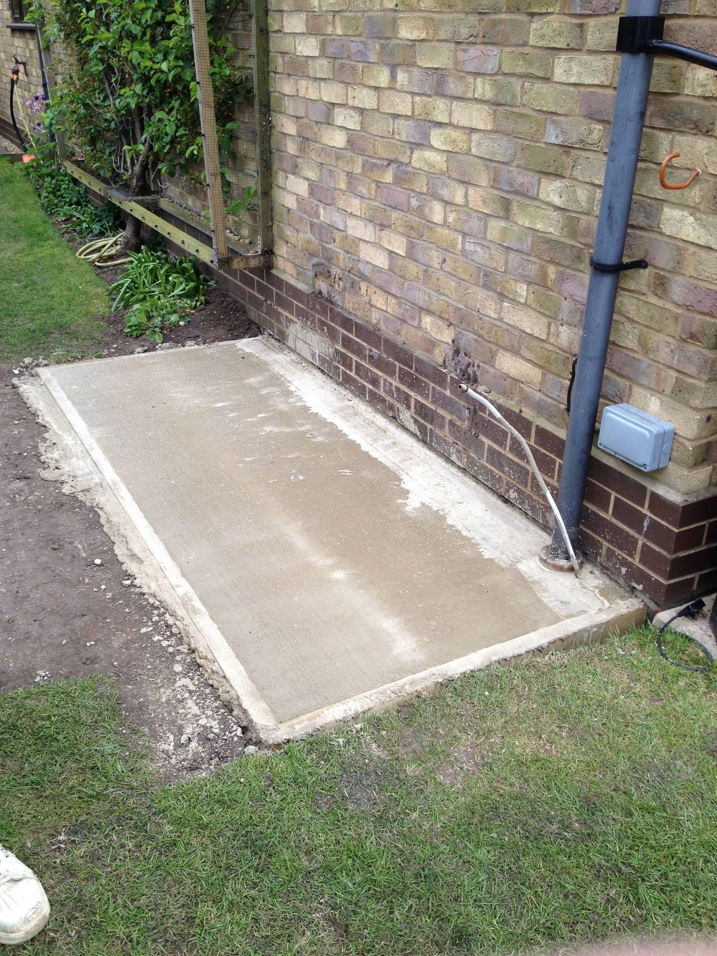 New concrete base