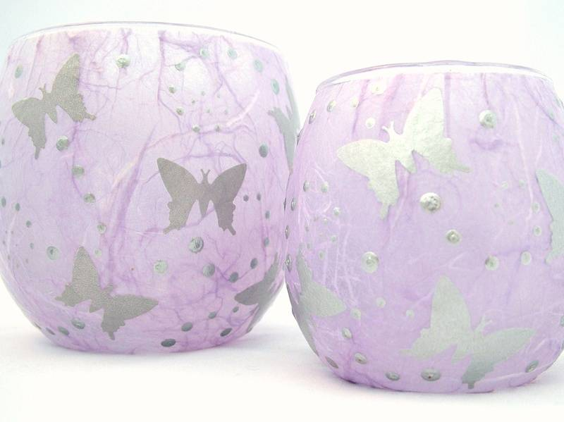 Mauve and Silver Butterflies