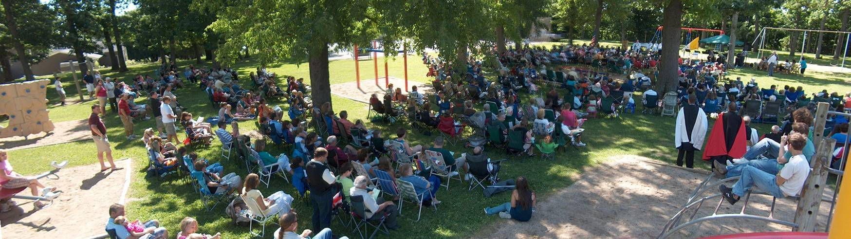 Outdoor Mass---over 750 attended