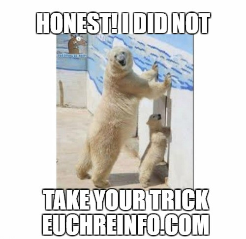 Honest! I did not take your trick.