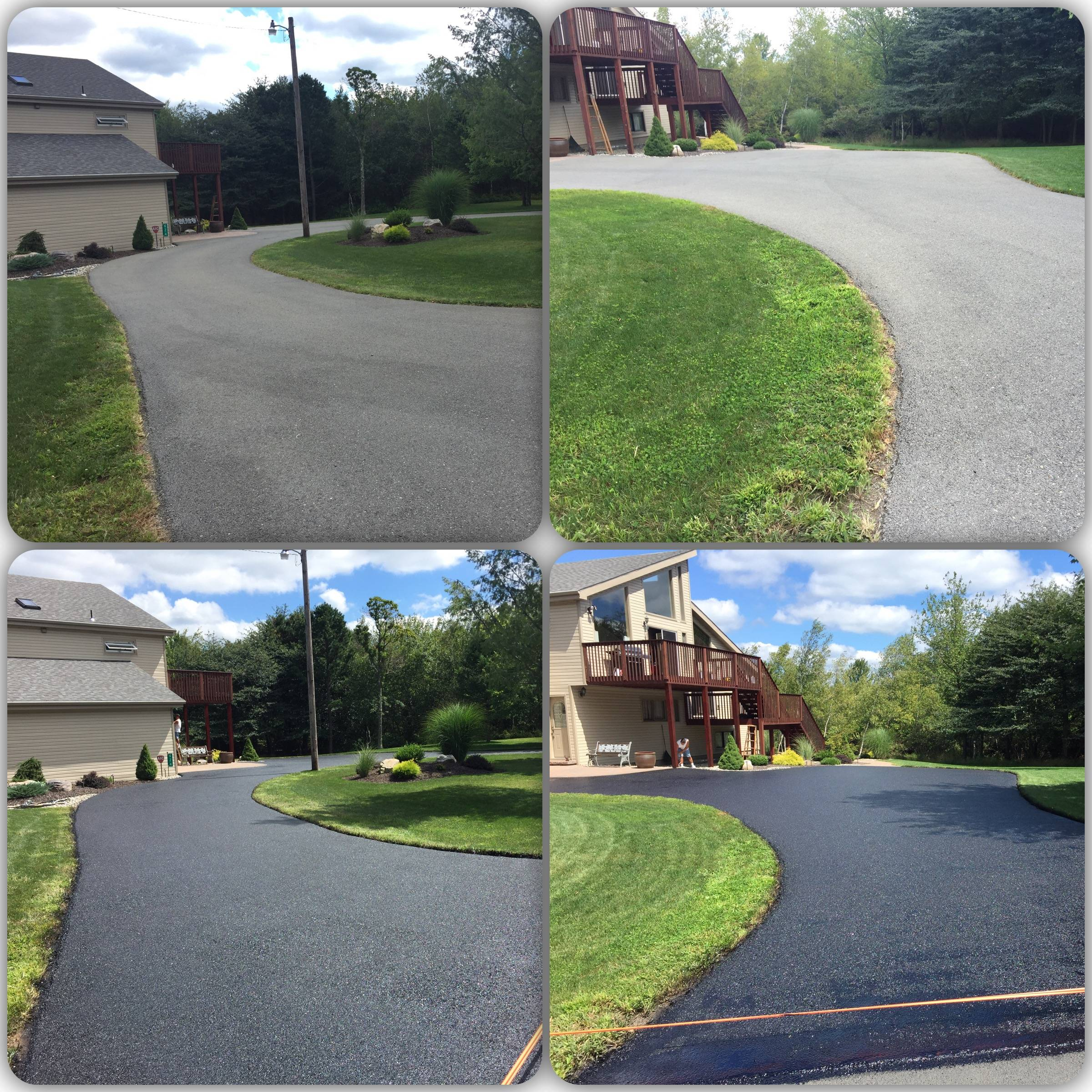 Before and after asphalt restore