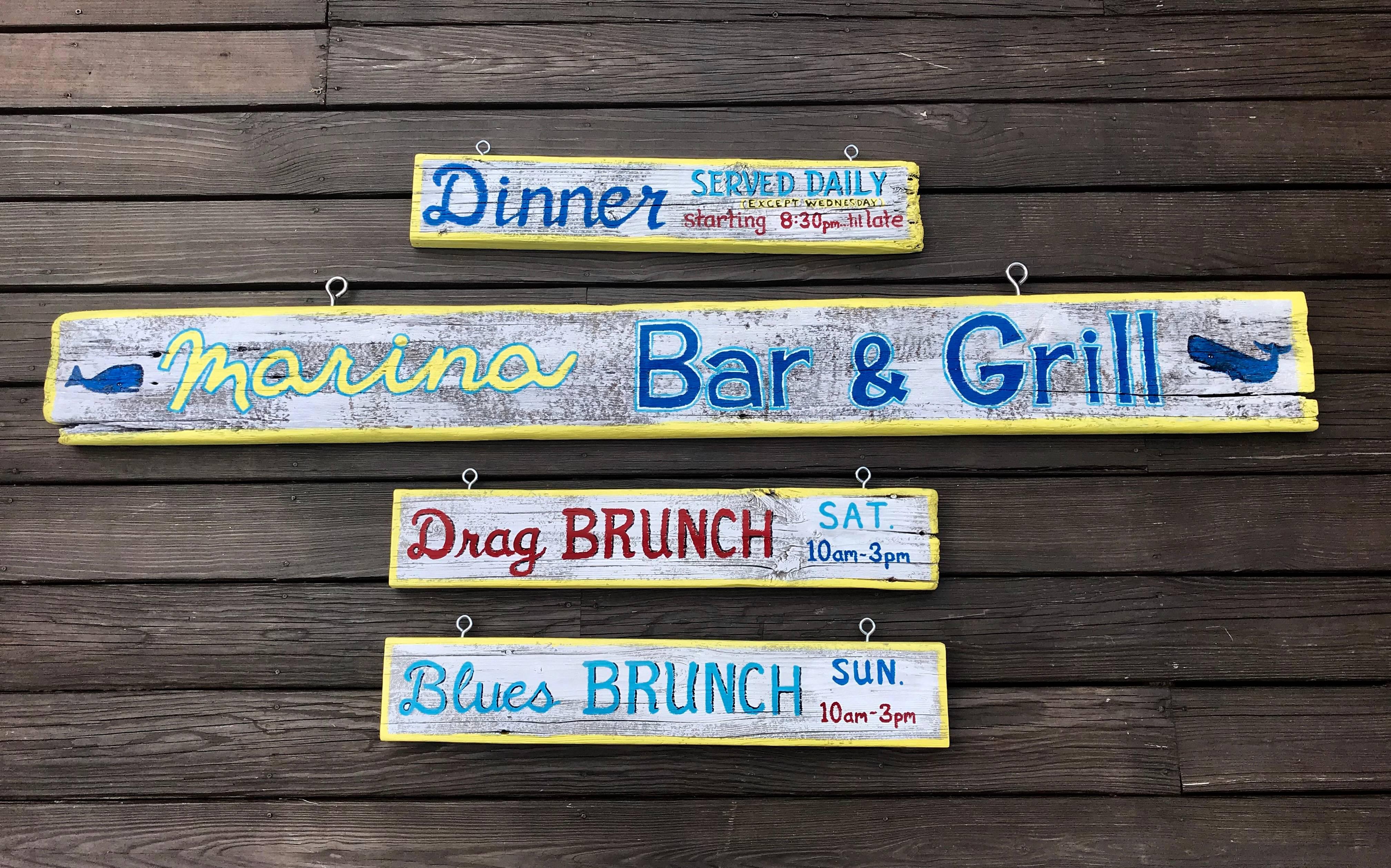 Restaurant front sign
