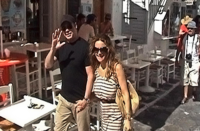 John Travolta and his wife Kelly Preston, Mykonos