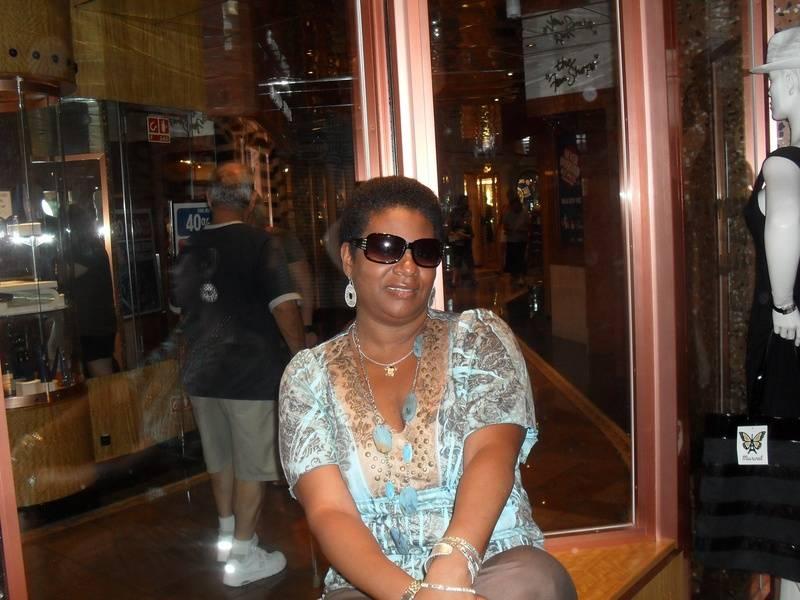 Freda Darden on cruise 2010