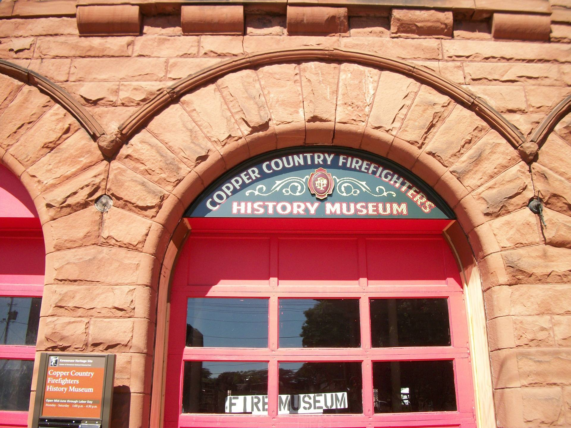 Middle door at Historic Fire Hall