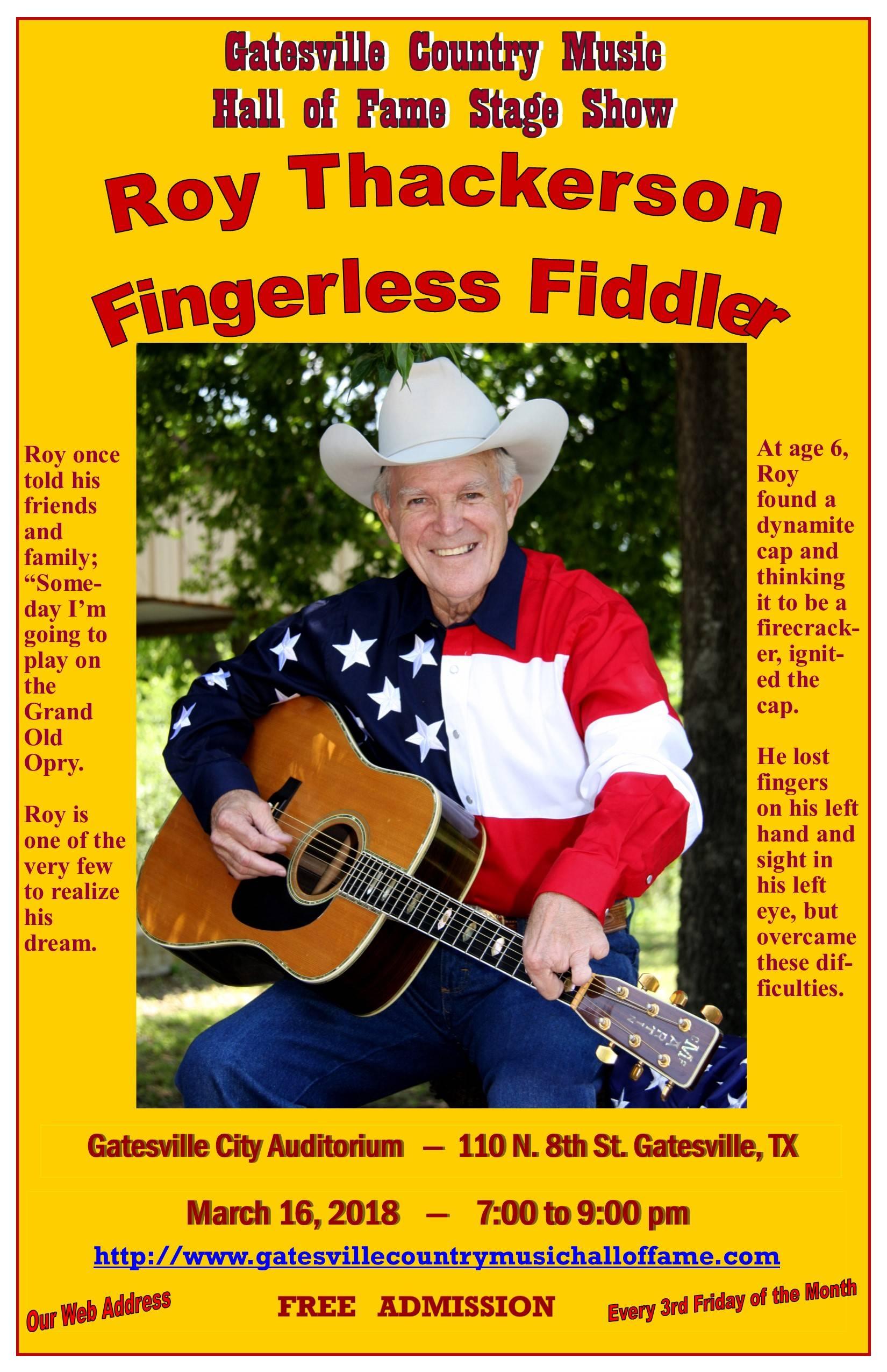 """Roy Thackerson, """"Fingerless Fiddler"""""""