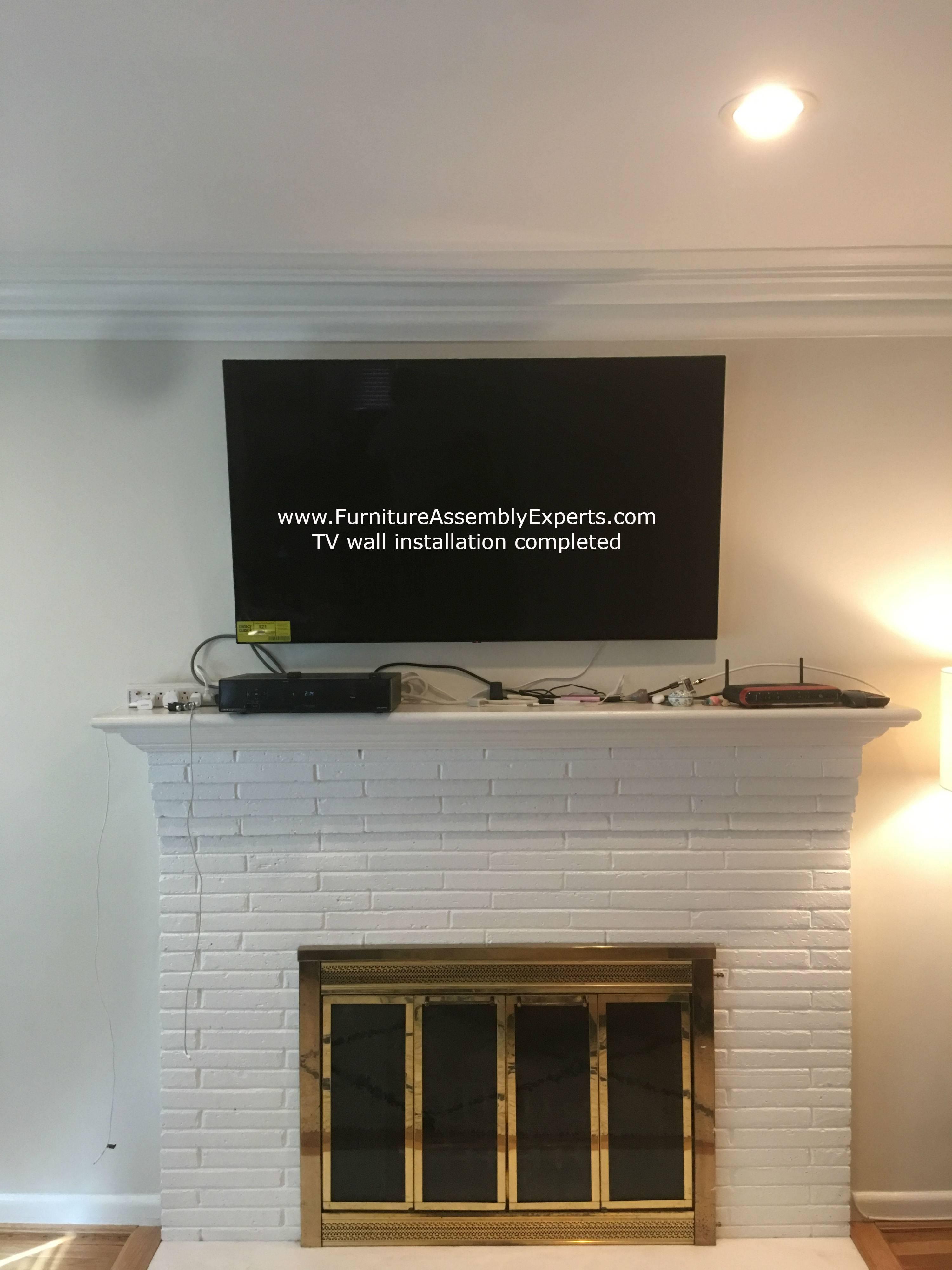 Fireplace tv wall installation in Washington DC