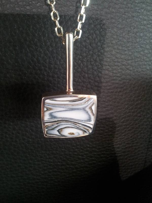 Silver with Zebra Agate