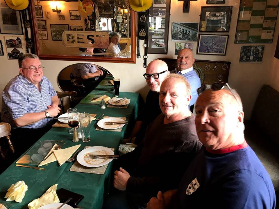 Judge and Reunion saxophonist Chris Buckwell, faces Karl Heinz, Lee Bronson, Mal Sanders and Ton Tyrone