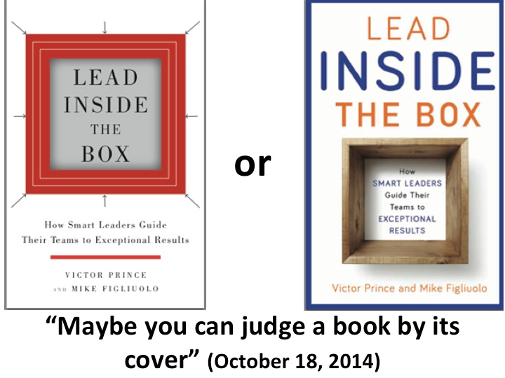 Maybe You Can Judge a Book By Its Cover (October 18, 2014)