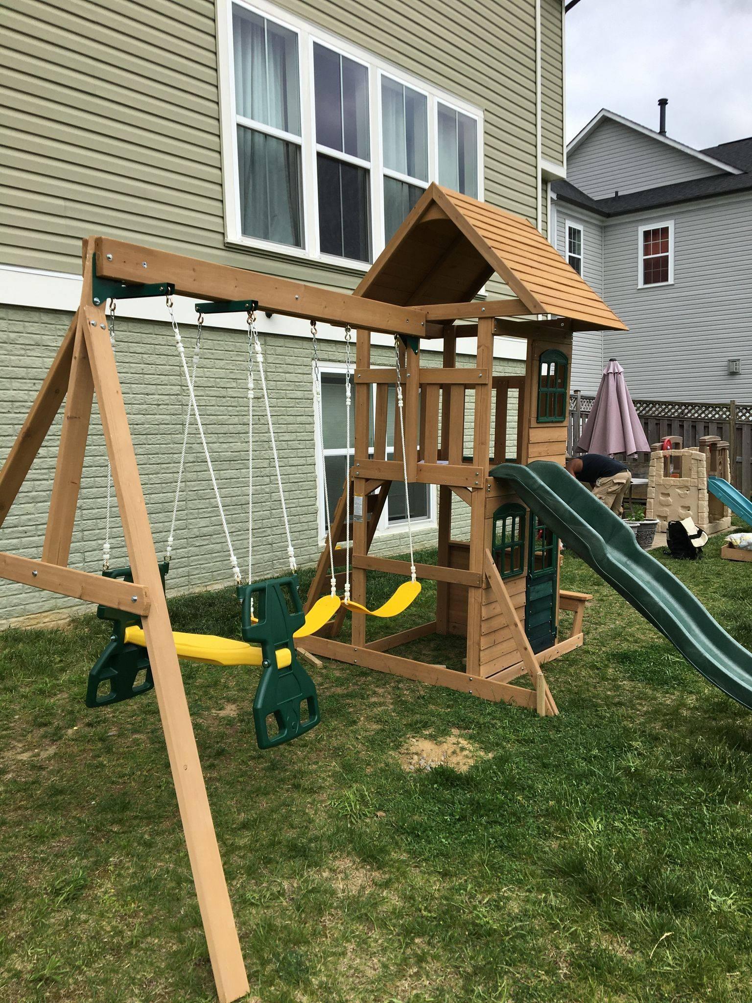 Big Backyard F23220 Windale swing set assembly in Fairfax Virginia
