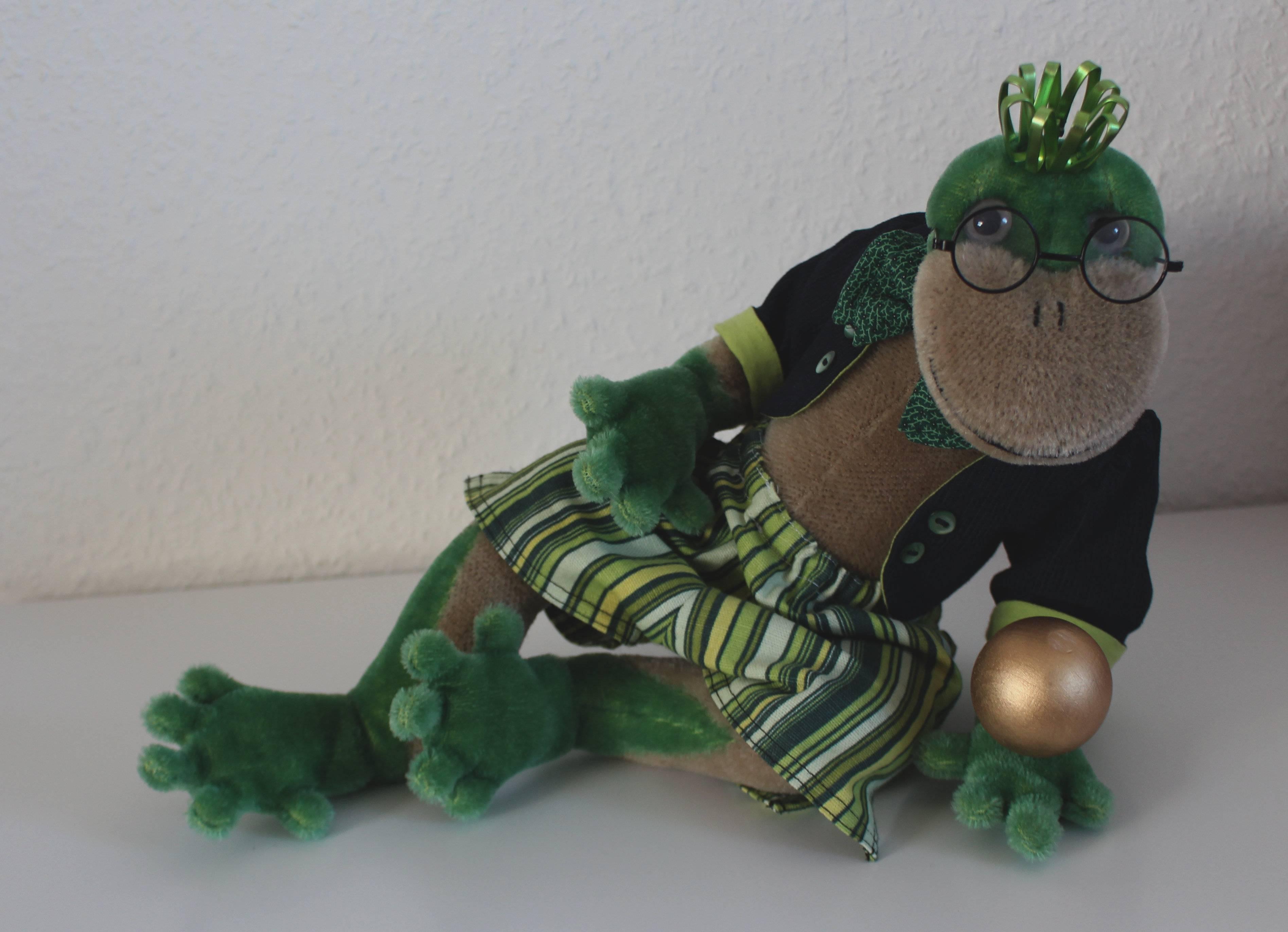 ...und ein Frosch in grün, Einzelstück, leider schon verkauft!!