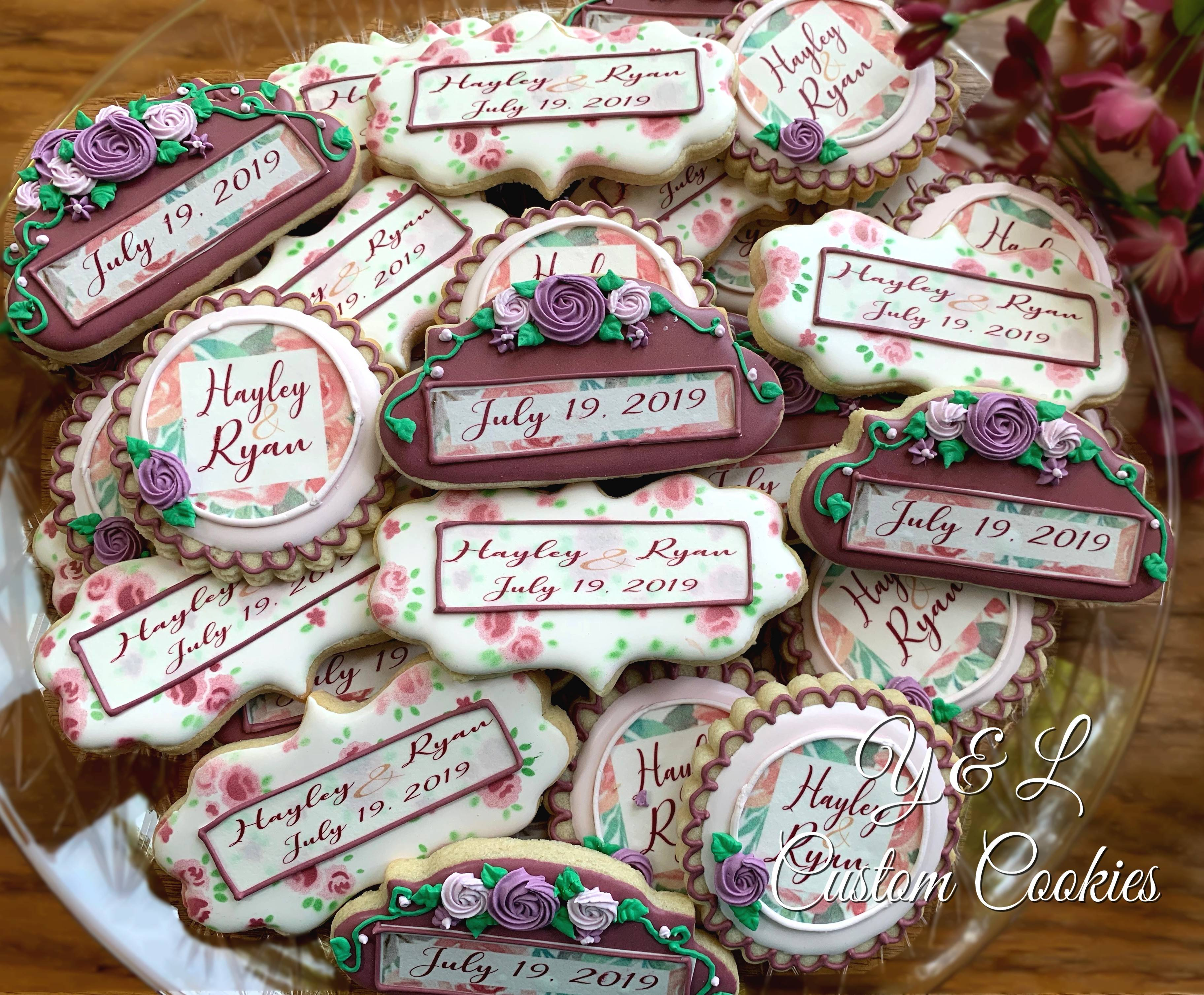 Floral place setting bridal shower