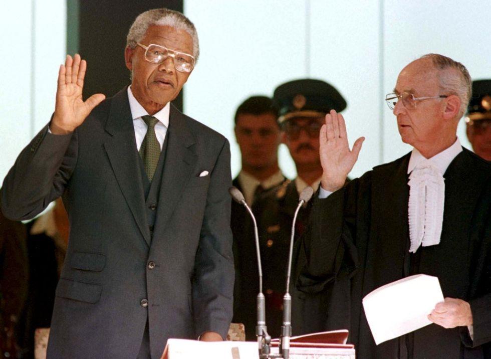 Mandela being sworn in as President