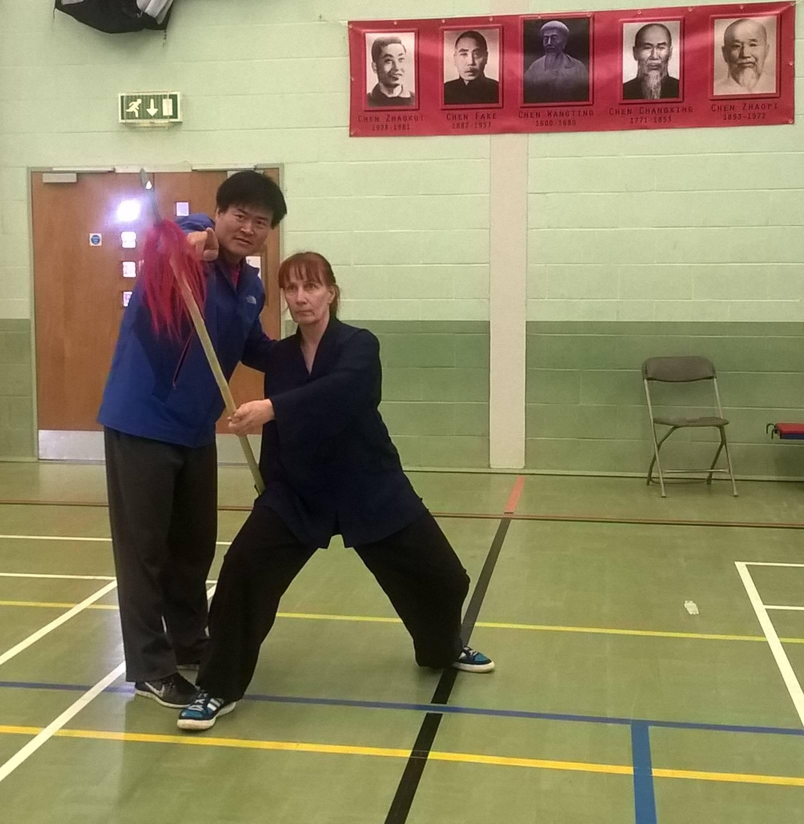 Training Chen Taiji Spear with Master Wang Haijun