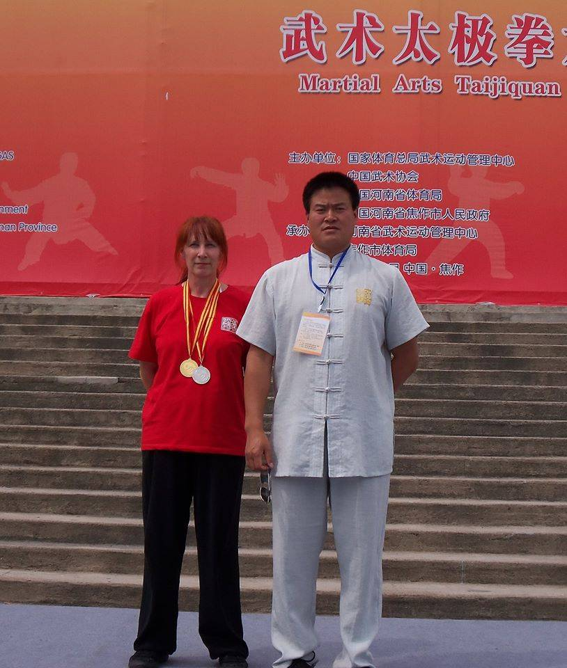 Cherry and Master Wang at Jiaozuo Competition China, 2013