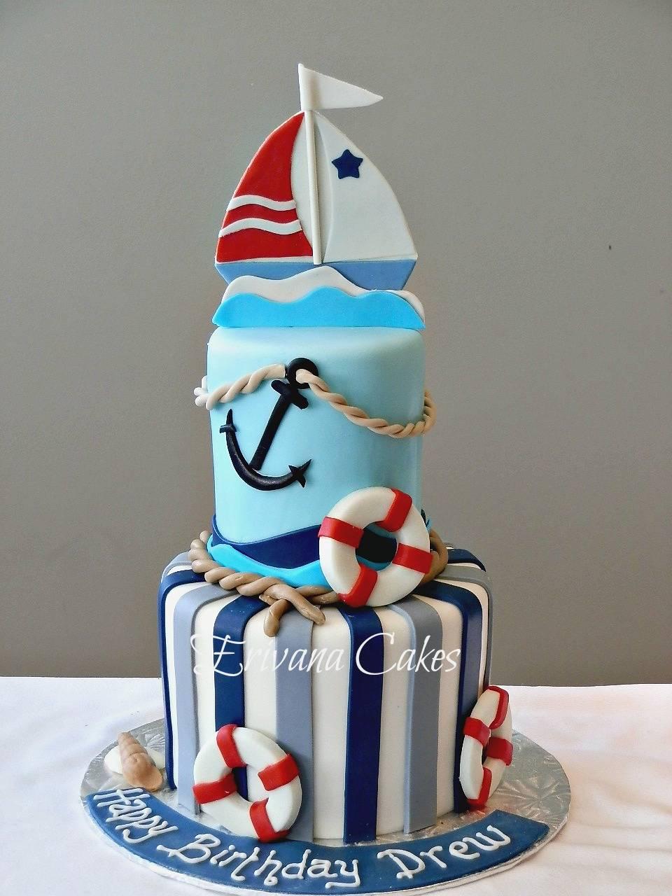 Nautical Sailboat cake