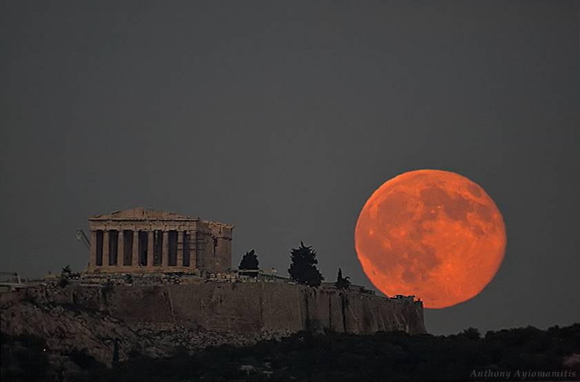 Acropolis Moon By: Anthony Ayiomamitis, 2010 October 23