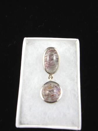 09-00103 Red Rutilated Quartz in Sterling Silver Pendant