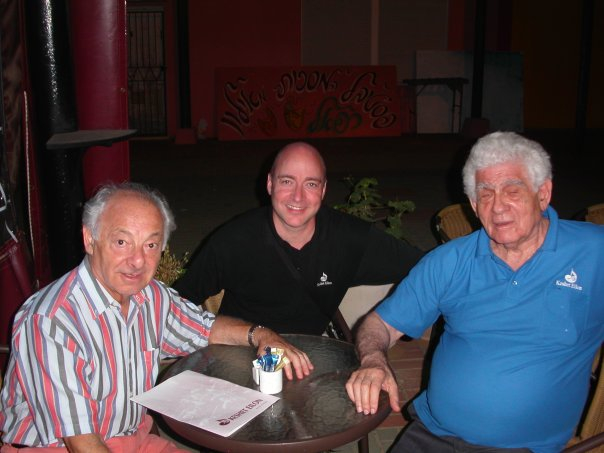 With Colleagues Gyorgy Pauk and Haim Taub in Israel