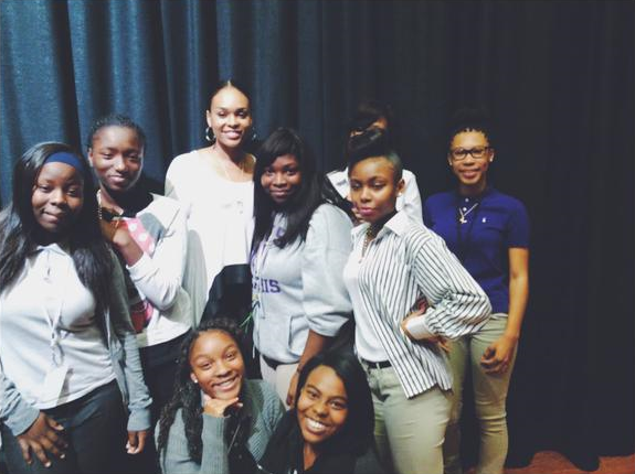 Demetria McKinney visit Everman High School
