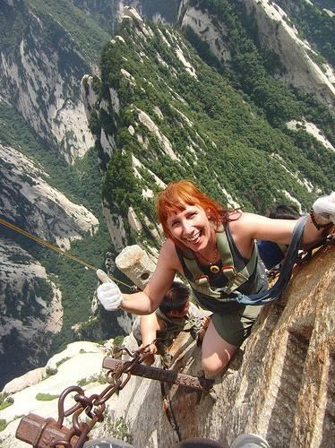 Climbing Hua Shan, Shaanxi Province