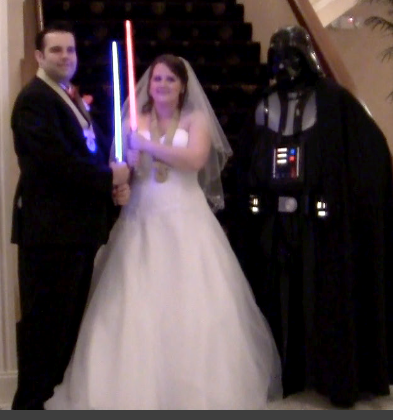 The Force is strong with this couple