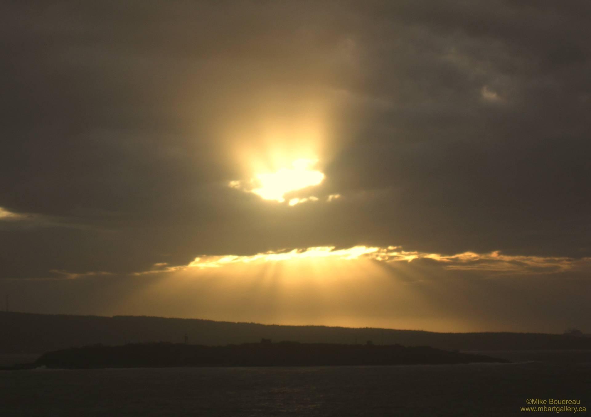 Sunrays over Partridge Island, Saint John NB