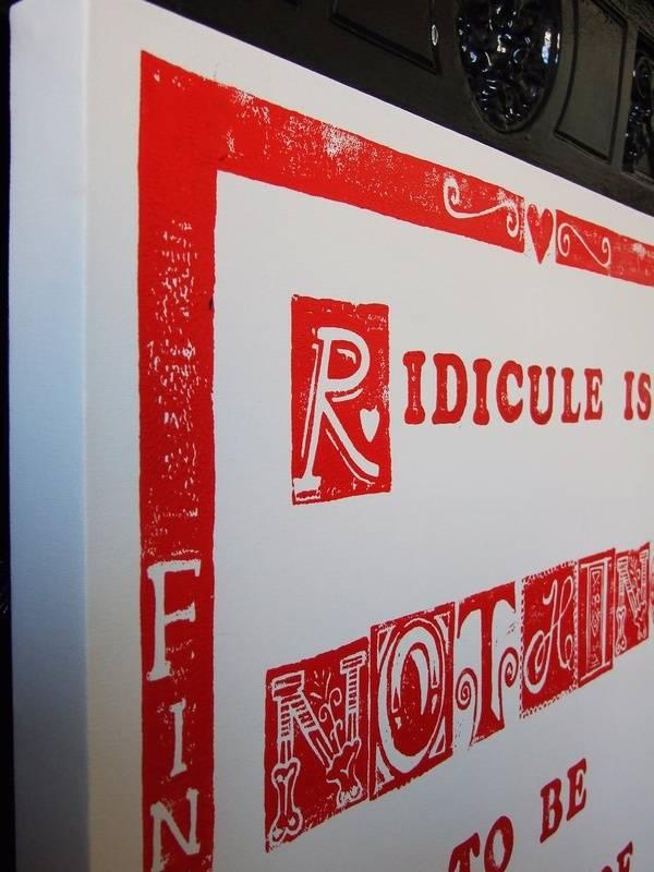 Detail from 'Ridicule...' bespoke print