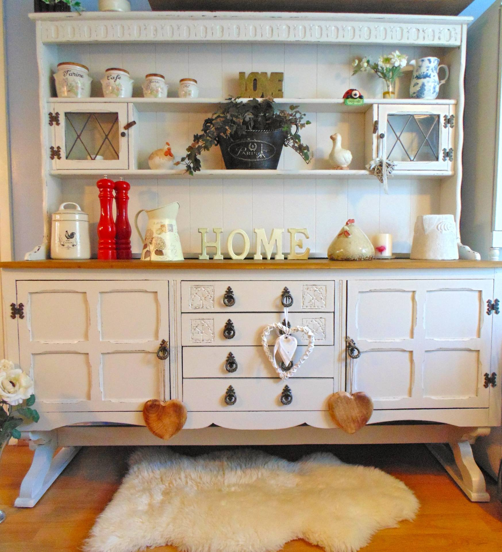 Large Cradle Old Charm Dresser in F & B Clunch