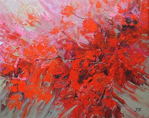 Abstract bougainvillea