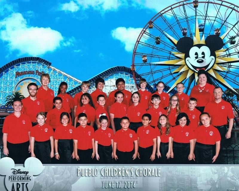 Pueblo Children's Chorale official Disneyland performance photo