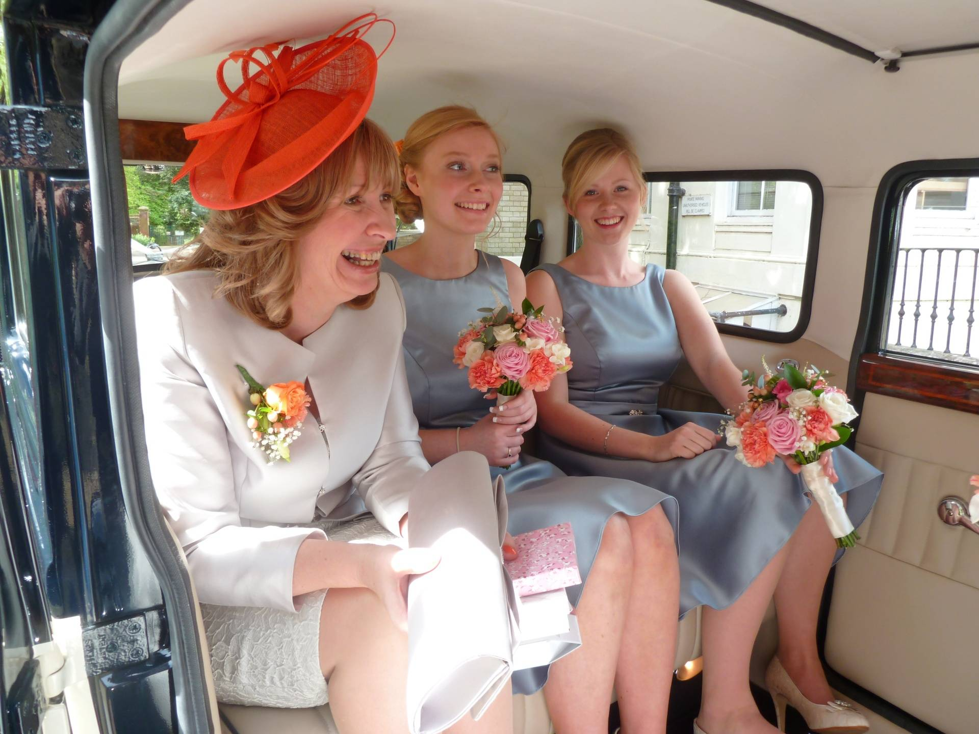 Bride's mother and bridemaids