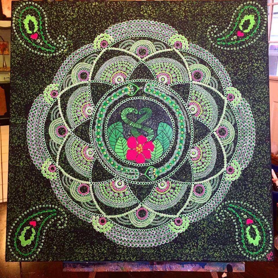 The Cosmic Serpent Mandala Day time